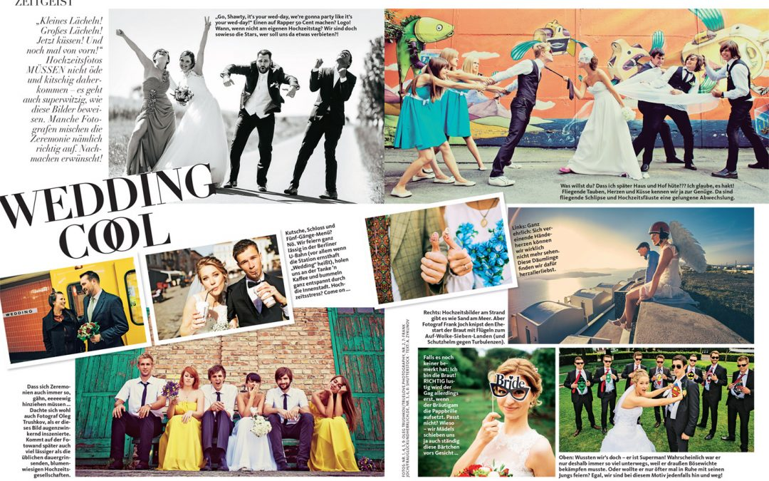 """""""Cool Wedding"""" – Women's magazine Maxi has featured 4 of my images"""