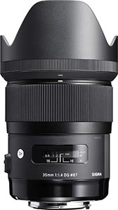 wedding photography lenses - sigma 35 mm art