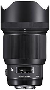 Ausrüstung für Hochzeitsfotografie - Objektiven - sigma 85 mm art